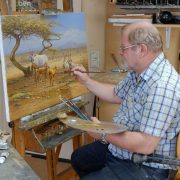 Dick van Heerde in Atelier
